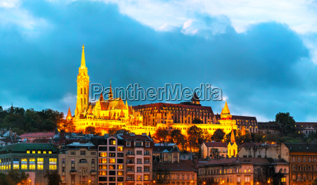 old budapest with matthias church