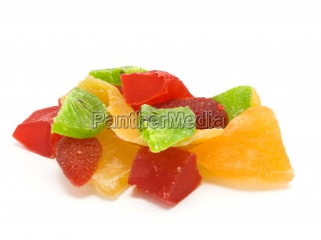 multi colored slices of fruits dried