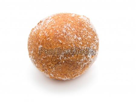 fried donut on a white background