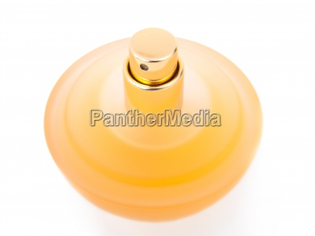 yellow beautiful bottle of perfume