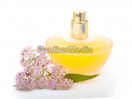 yellow beautiful bottle of perfume with