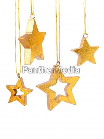 gyldne christmas stjerner baggrund