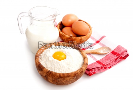 ingredients for baking isolated on a
