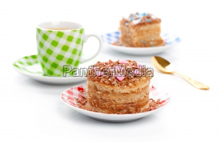 coffee sweet dessert cake with cup