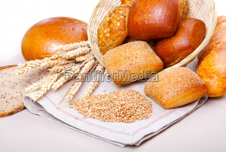 assortment of pastries and bread bun