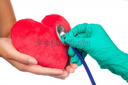 stethoscope, with, red, hearts - 13280180