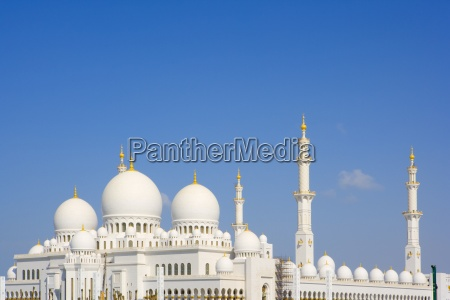 great mosque in abu dhabi emirates