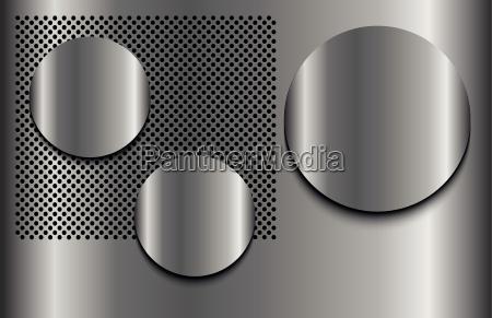 three shadows circle points chrome dots