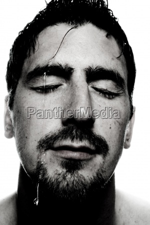 studio photography cold male masculine face