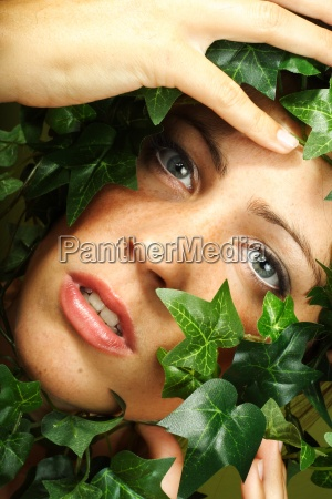 woman person girl overgrown sling plant