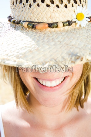 woman person hat summer flower spring
