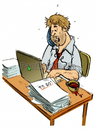 telephone phone office comic chaos business