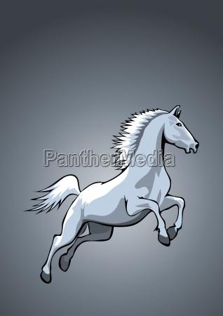 horse final blue