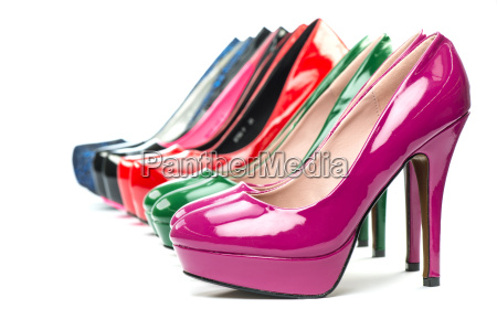 high heels pumps in different colors