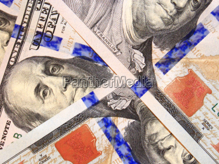 hundred dollar bank notes isolated