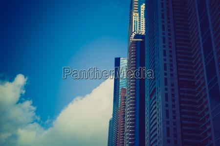 high luxury building skyscraper facade with