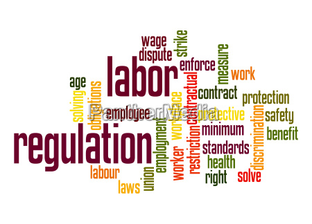 labor regulation word cloud