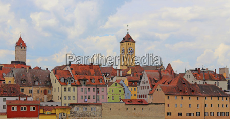 the rathausturm and the golden tower