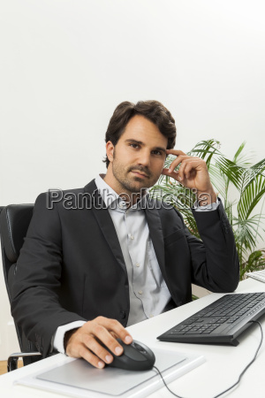 young successful businessman with a black