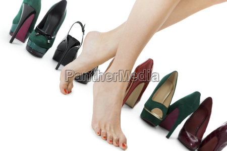 diverse couple high heels stilettos as