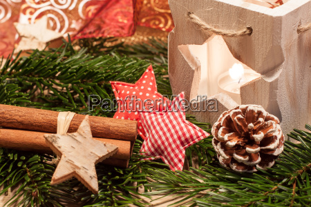 christmas table decoration tealight wooden