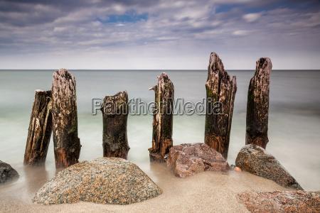 buhne on the baltic sea