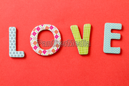 colorful text love