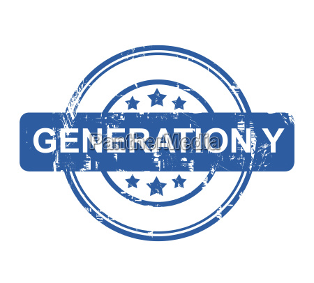 generation y business concept stamp