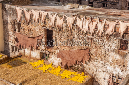 traditional leather tanneries in the medina