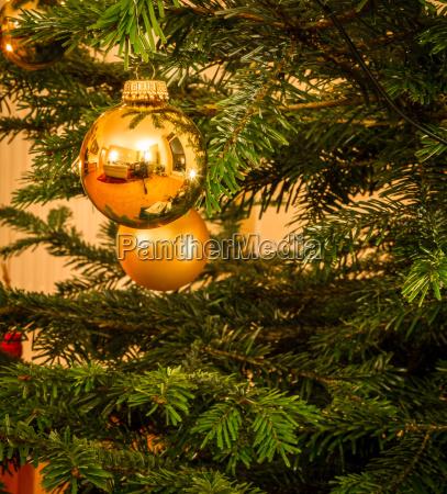 christmas bauble on the christmas tree