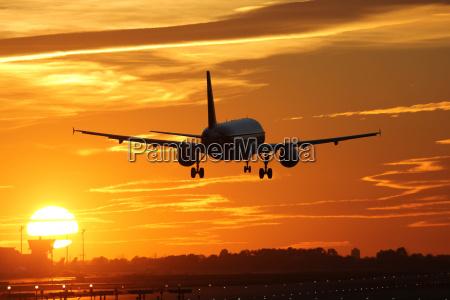 aircraft upon landing at the airport