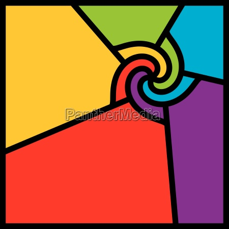 abstract colorful swirl vector
