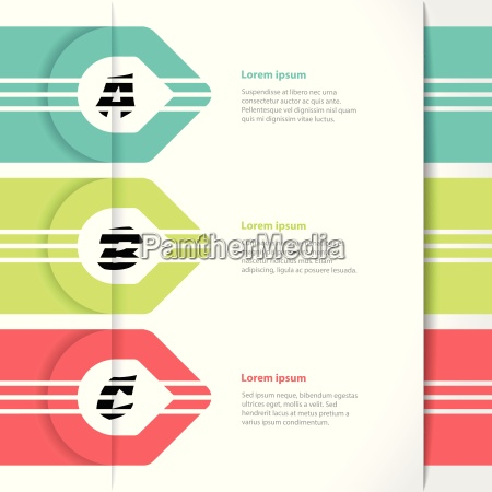 vivid colored arrows infographics