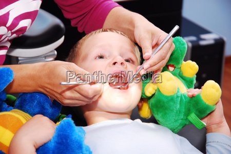 boy at the dentist