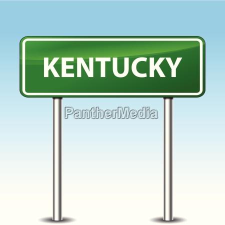 kentucky green sign