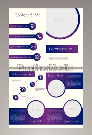 business brochure template purple and