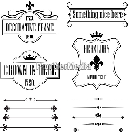 collection of vintage frames borders and