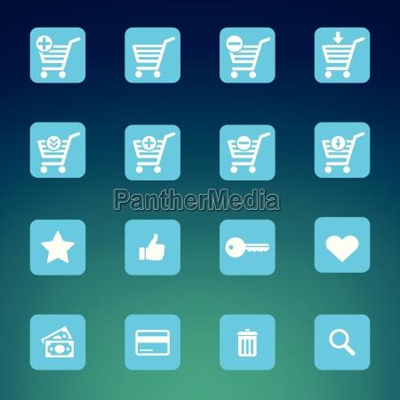 collection of various blue e shop