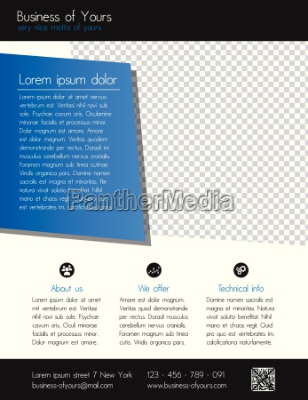 business flyer template clean modern