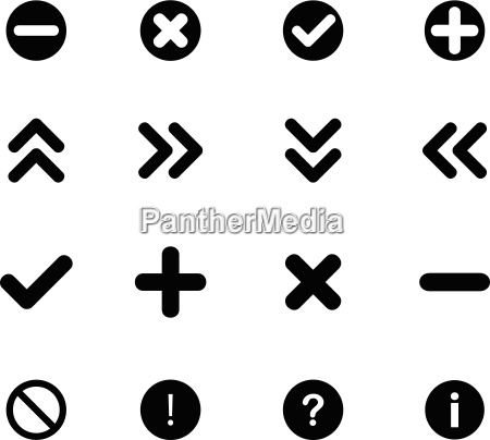 set of flat icons arrows
