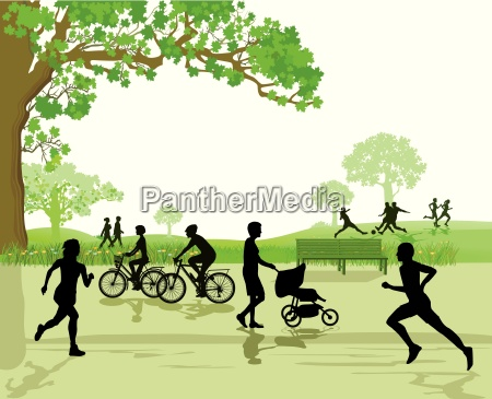 leisure and sports in the park