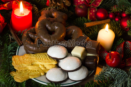 pastries and candies at christmas time