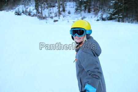 girl in ski sport