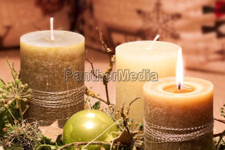pre christmas time advent candlelight