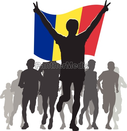 athlete with the andorra flag at