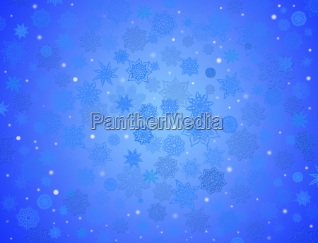 fabulous snowflakes on the blue background
