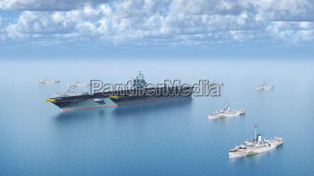 aircraft carriers and support vessels