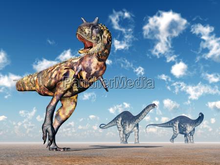 carnotaurus and apatosaurus