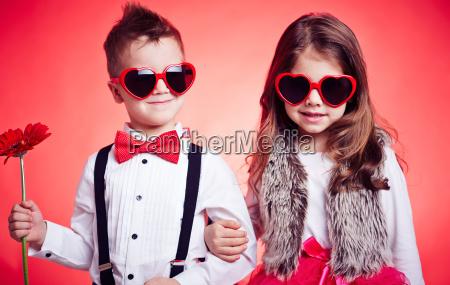 glamorous little couple