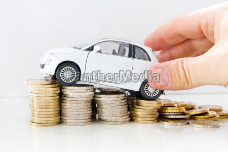 car with money and hand